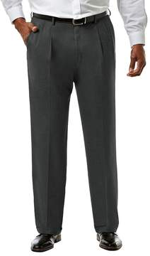 Haggar Big & Tall J.M. Premium Classic-Fit Sharkskin Stretch Pleated Suit Pants