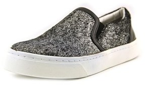 Luichiny Vay Kay Women Round Toe Canvas Silver Loafer.