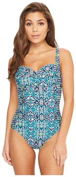 LaBlanca La Blanca Tuvalu Over the Shoulder Sweetheart One-Piece Women's Swimsuits One Piece