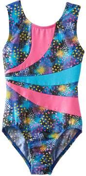 Jacques Moret Girls 4-14 Splatter Colorblock Leotard