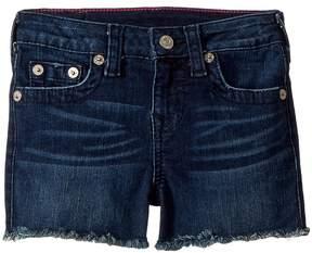 True Religion Joey Raw Shorts in Ocean Blue Girl's Shorts