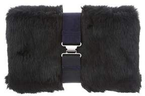 Theory Fur Zahara Clutch w/ Tags
