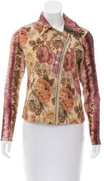Alberto Makali Embellished Floral Jacket