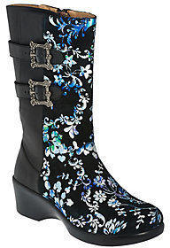 Alegria As Is Leather Mid-calf Boots w/ Side Buckles - Erica