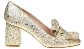 RED Valentino Women's Gold Leather Pumps.