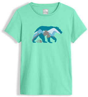 The North Face Short-Sleeve Graphic Tee, Green, Girls' Size XXS-XL