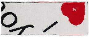 Raf Simons Men's White/red Wool Scarf.