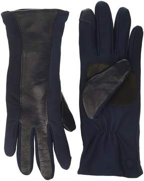 Echo Leather Stripe Superfit Gloves Dress Gloves