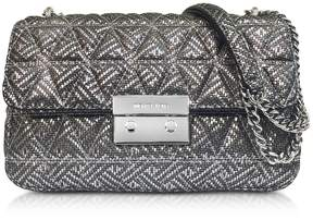 Michael Kors Silver Quilted Leather Sloan Large Chain Shoulder Bag - SILVER - STYLE