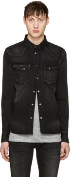 Nudie Jeans Black Denim Jonis Shirt