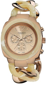 Akribos XXIV Rose Gold-Tone Ladies Watch AK641RG