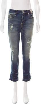 Amo High-Rise Straight-Leg Jeans w/ Tags