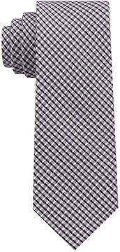 DKNY Men's City Check Ii Silk Slim Tie
