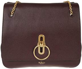 Mulberry Logo Plaque Leather Shoulder Bag