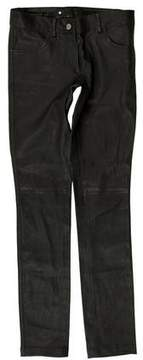 Barbara Bui Low-Rise Leather Pants