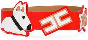 Elisabetta Franchi La Mia Bambina dog patch thick belt