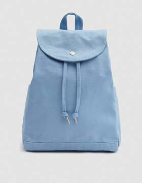Drawstring Backpack in Washed Blue