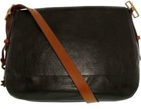Fossil Women's Large Harper Saddle Crossbody Leather Shoulder Bag Satchel - Black