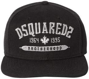 DSQUARED2 Embroidered Cotton Canvas Baseball Hat