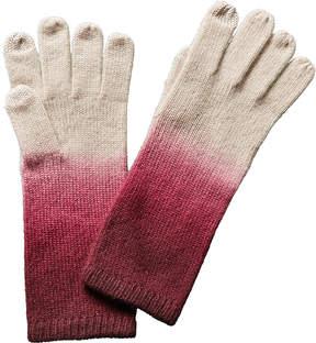 Sofia Cashmere sofiacashmere Sofiacashmere Touchscreen Dip Dye Cashmere Gloves
