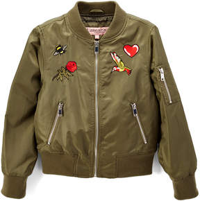 Urban Republic Olive Patch Bomber Jacket - Toddler & Girls