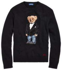 Ralph Lauren Tuxedo Bear Wool Sweater Black L