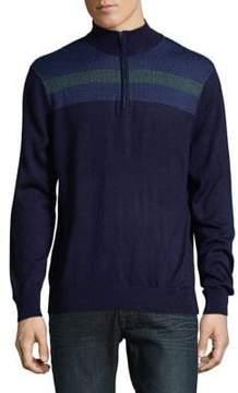 Callaway Opti-Therm Striped Jacquard Sweater