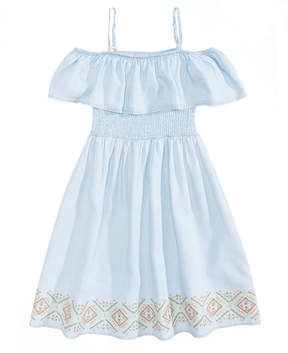 Epic Threads Off-The-Shoulder Embroidered Dress, Big Girls, Created for Macy's