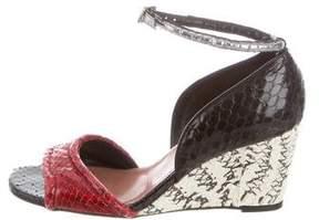 Derek Lam Python Wedge Sandals