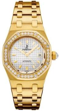 Audemars Piguet Royal Oak Automatic Diamond Yellow Gold Ladies Watch