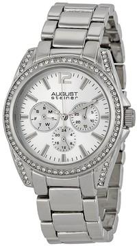 August Steiner Silver-tone Metal Silver Dial Quartz Ladies Watch