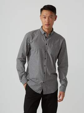 Frank and Oak The Branford Gingham-Check Shirt in Grey