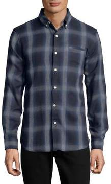 Joe's Jeans Seattle Plaid Cotton Button-Down Shirt