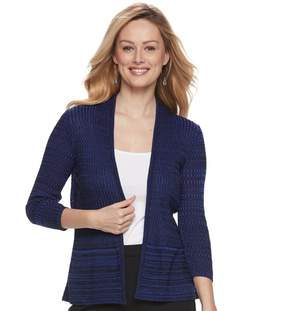 Apt. 9 Women's Ribbed Peplum Cardigan