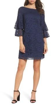 Eliza J Women's Tiered Sleeve Lace Shift Dress