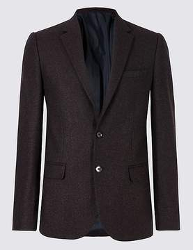 Marks and Spencer Wool Blend Textured Slim Fit Jacket