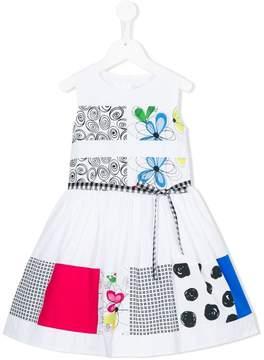 Simonetta patchwork print belted dress