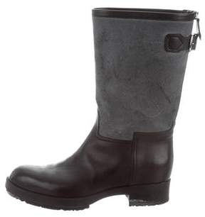 Hermes Round-Toe Mid-Calf Boots