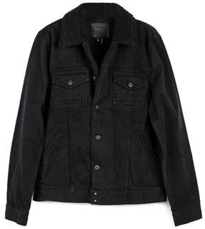 Paige Alec Jacket - Black Out Shearling