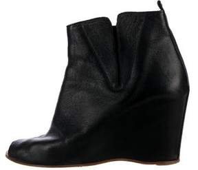 MM6 MAISON MARGIELA MM6 by Maison Martin Margiela Peep-Toe Wedge Boots