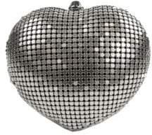 Sam Edelman Textured Heart Convertible Clutch