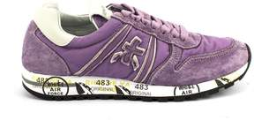 Premiata Sky Sneaker In Wisteria Nylon With Suede Details