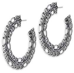 Dannijo Hawk Chain Hoop Earrings/2.5