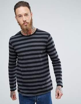Nudie Jeans Orvar Block Stripe Long Sleeve
