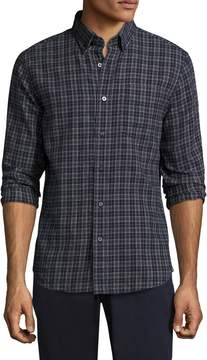 Jack Spade Men's Sheppard Trapunto Flannel Check Sportshirt