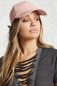 Forever 21 Faux Leather Pierced Dad Cap