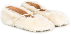 Pépé fur detail slippers