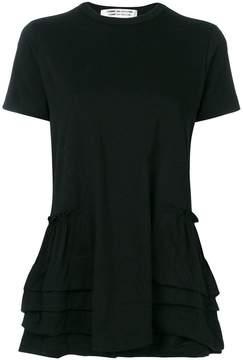 Comme des Garcons asymmetric pleated hem T-shirt