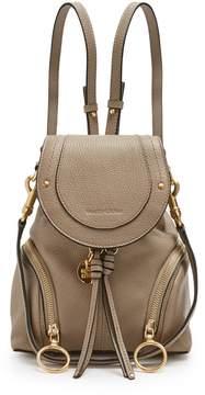 See by Chloe Olga Grained Leather Backpack - Womens - Grey