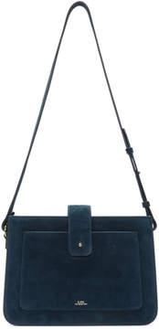 A.P.C. Blue Suede Albane Bag